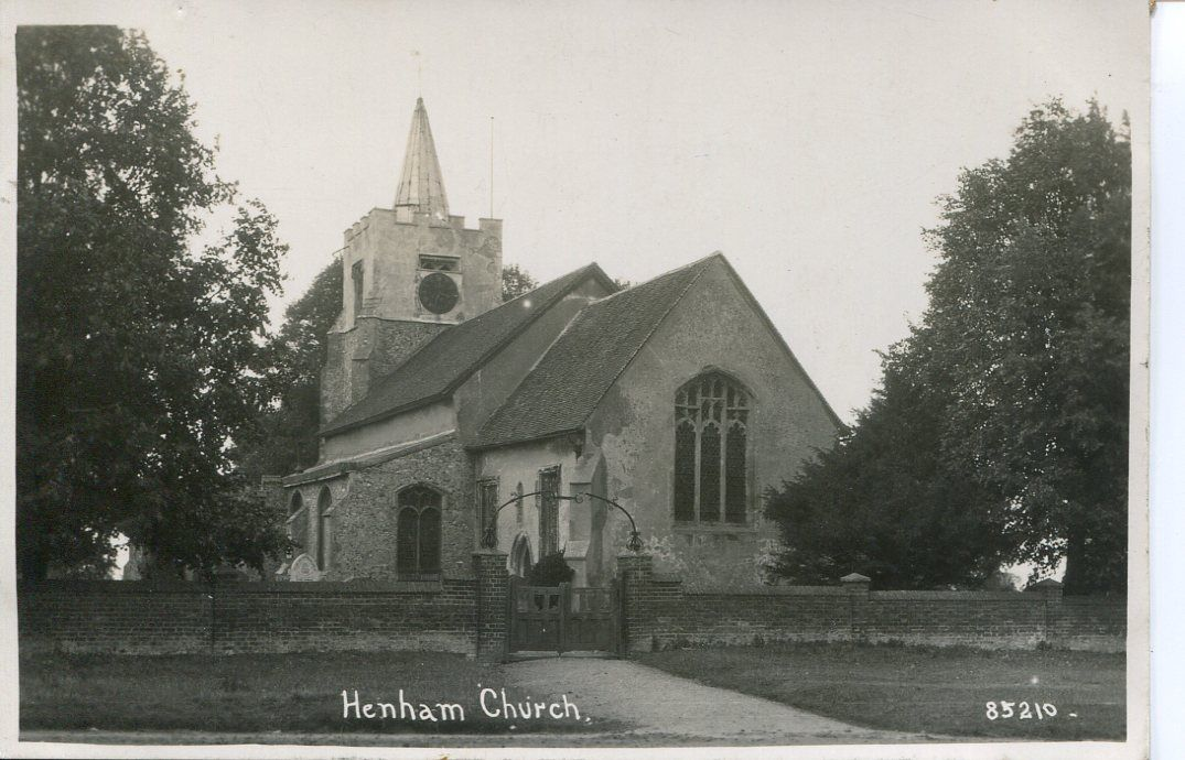 henham church b and w