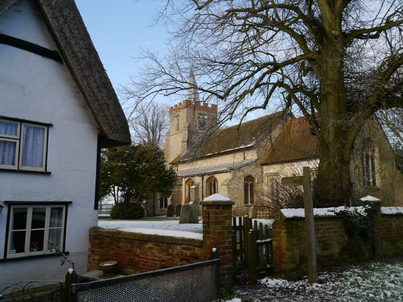 winter at the churchyard