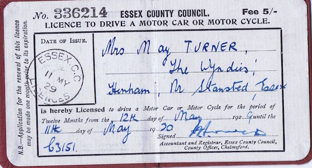 driving licence may turner