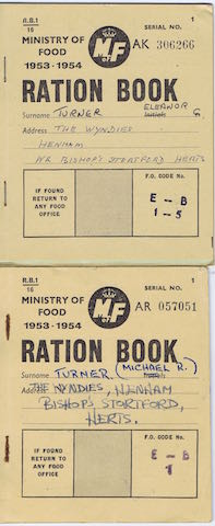 1953 1 rationing book