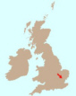 Map showing where we are in England
