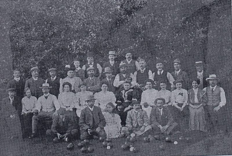 1908 bowls party at parsonage farm