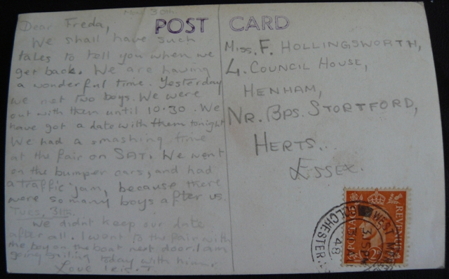 hollingworth postcard