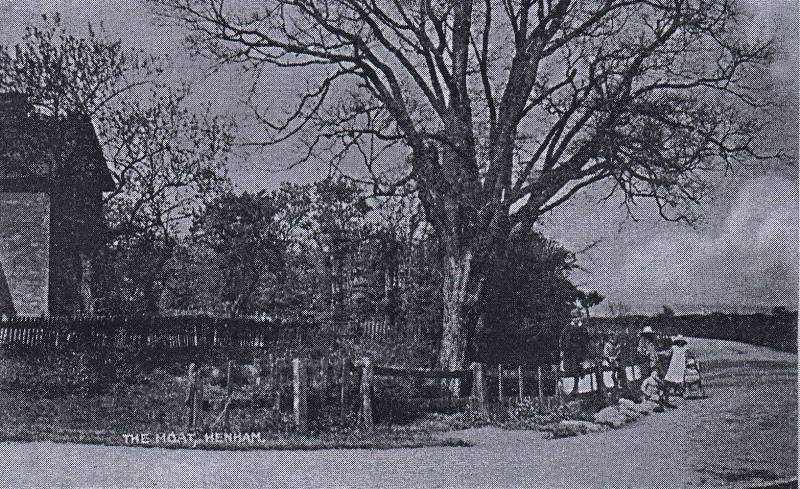 The Moat and Moat Cottage, Hall Road 1909