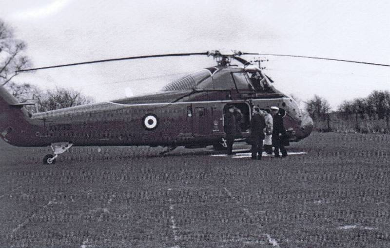 1985 Princess Anne  with helo