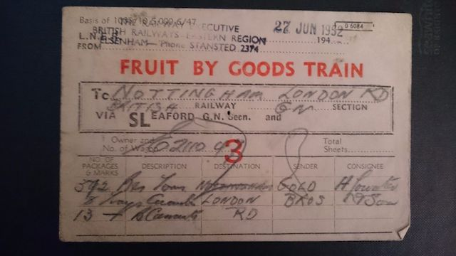 1952 Fruit Label