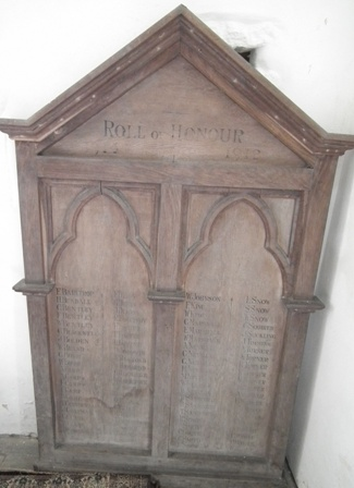 Wooden Roll of Honour